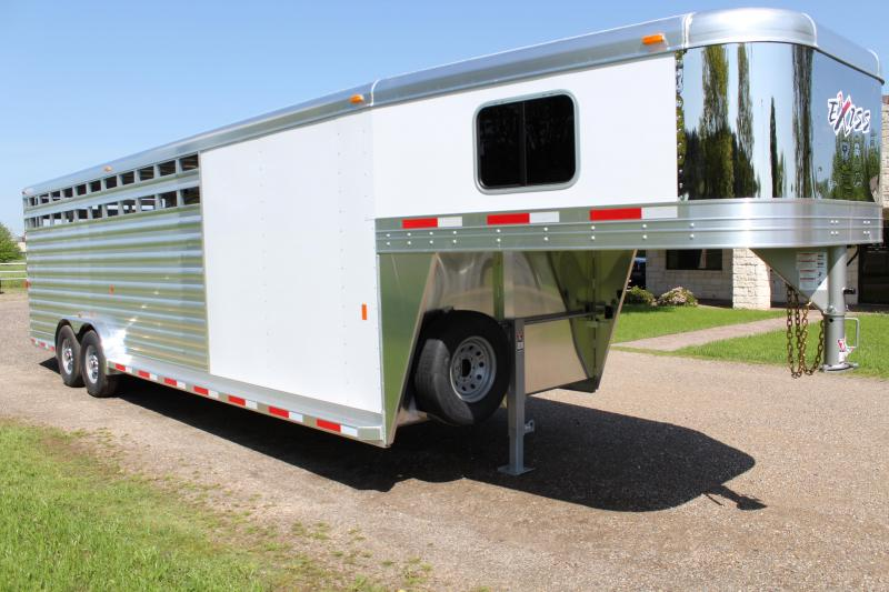 2018 Exiss  6 Horse Combo with Front Tack Room Horse Trailer