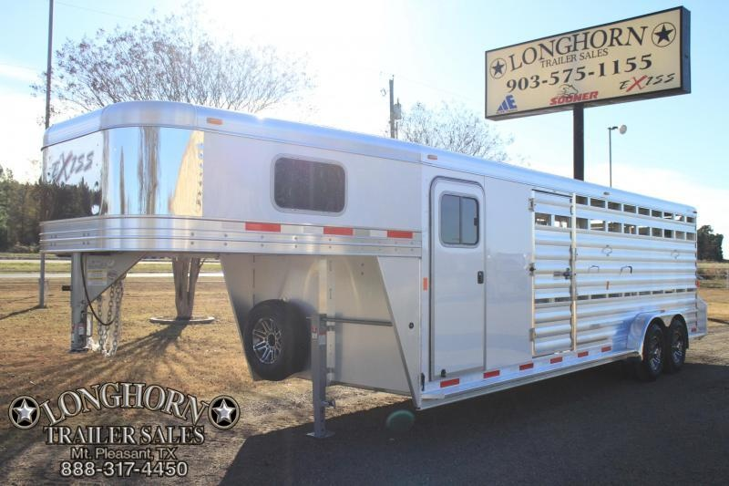 2018 Exiss 24ft Show cattle Combo with Side Ramp in Stock