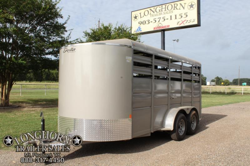 2018 Delta 16ft x 6ft Stock Trailer with Cut Gate