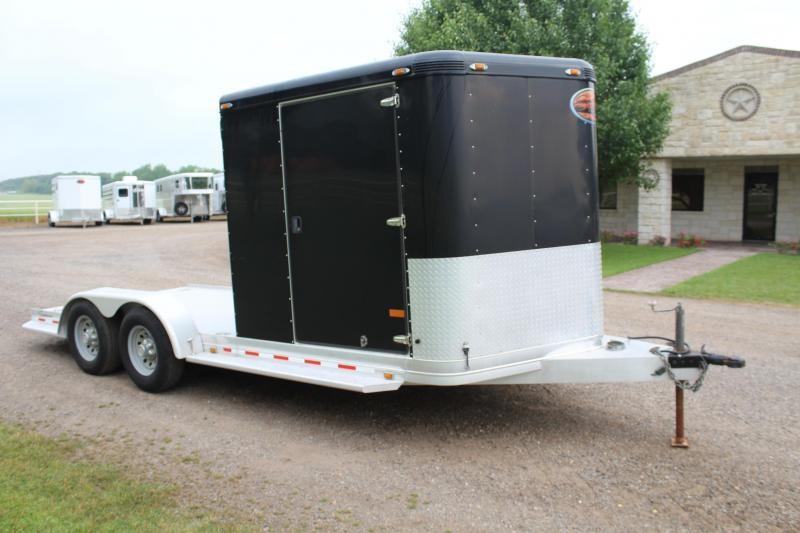 2013 Sundowner Trailers 19ft Sportman Utility with Storage Room Enclosed Cargo Trailer