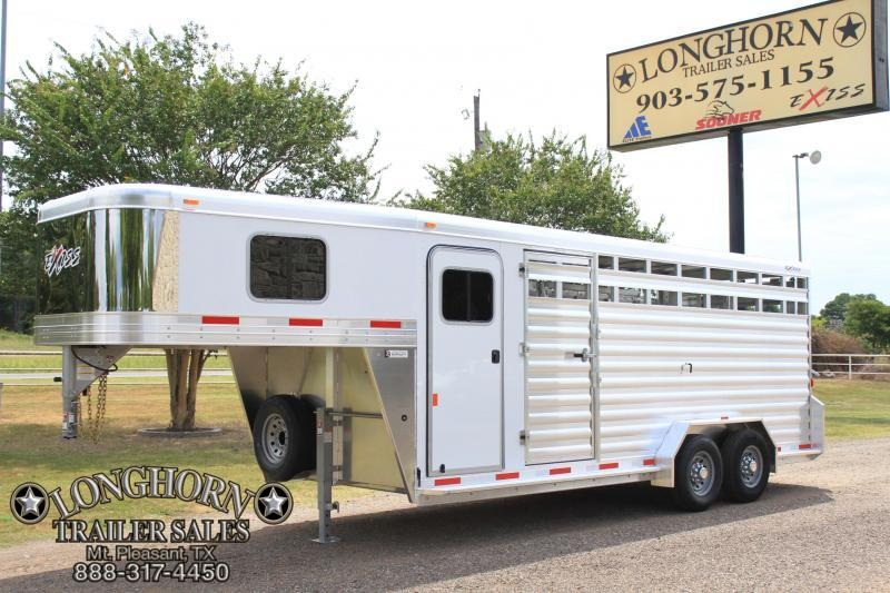 2019 Exiss 20ft Show Cattle Combo with 4ft Tack and Side Ramp