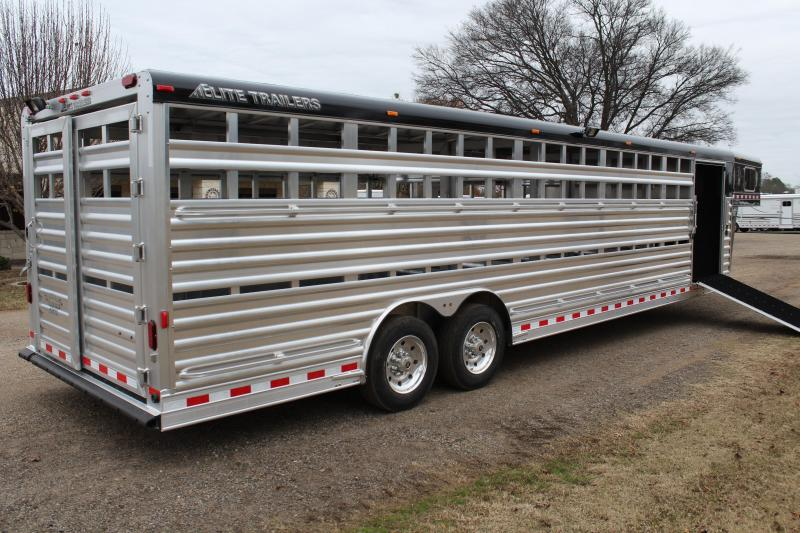 2018 Elite 30ft Show Cattle with Double Float Gates Loaded
