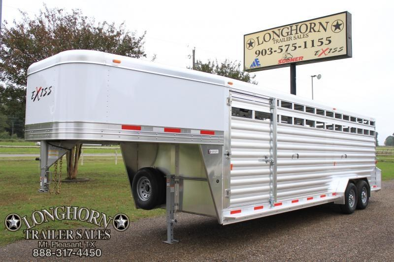 2019 Exiss  24ft x 7ft Heavy Duty Stock Trailer