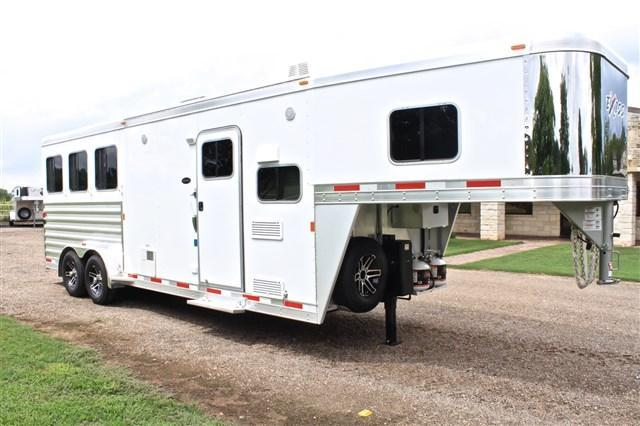 "2017 Exiss Trailers 3 Horse 8'6"" Shortwall 7' wide x 7'6"" Tall Horse Trailer"