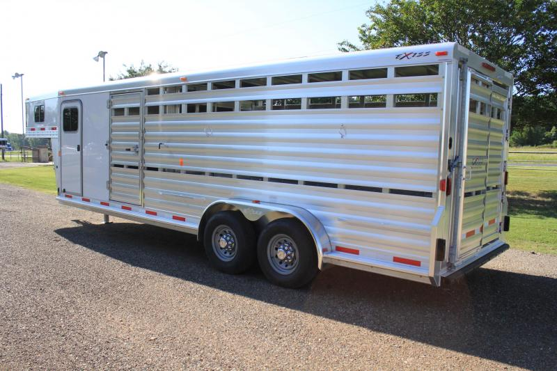 2018 Exiss 24ft Show Cattle with 6ft Tack Room and Side Ramp