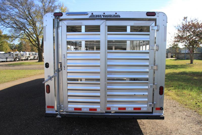 2019 Elite 8' x 28' Show Cattle Combo with Side Ramp