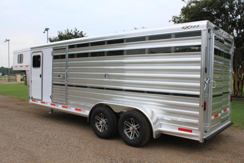 2020 Exiss 21ft Show Cattle w/ Side Ramp in Tack Room