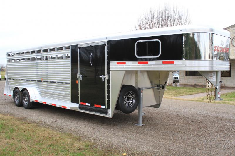 2019 Sooner 24ft Show Cattle Combo with Side Ramp in Tack Room