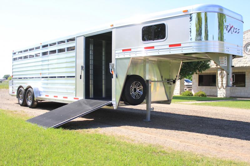 2019 Exiss Trailers 24 Combo w/ 2 Ramps and pen system Livestock Trailer