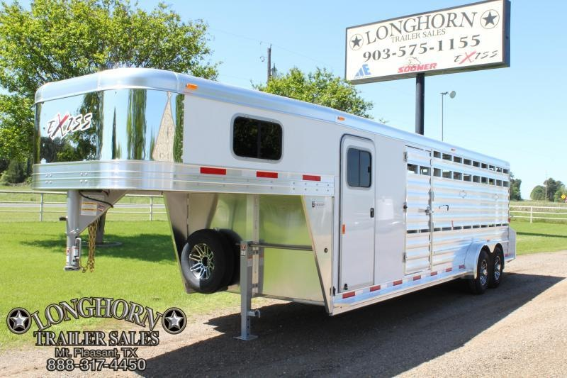 2019 Exiss 24ft Show Cattle with 6ft Tack Room and Side Ramp