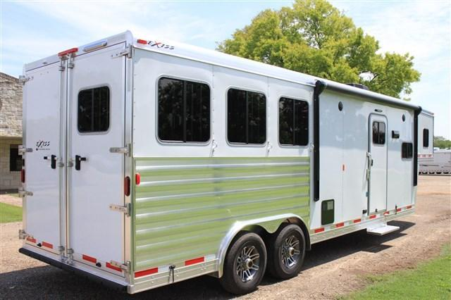 2019 Exiss Trailers 3 Horse 10' Living Quarter *8' Wide* Horse Trailer