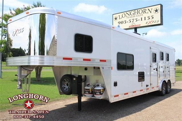 2019 Exiss Trailers 3 Horse 10' Living Quarter *8' Wide* Horse Trailer in TX