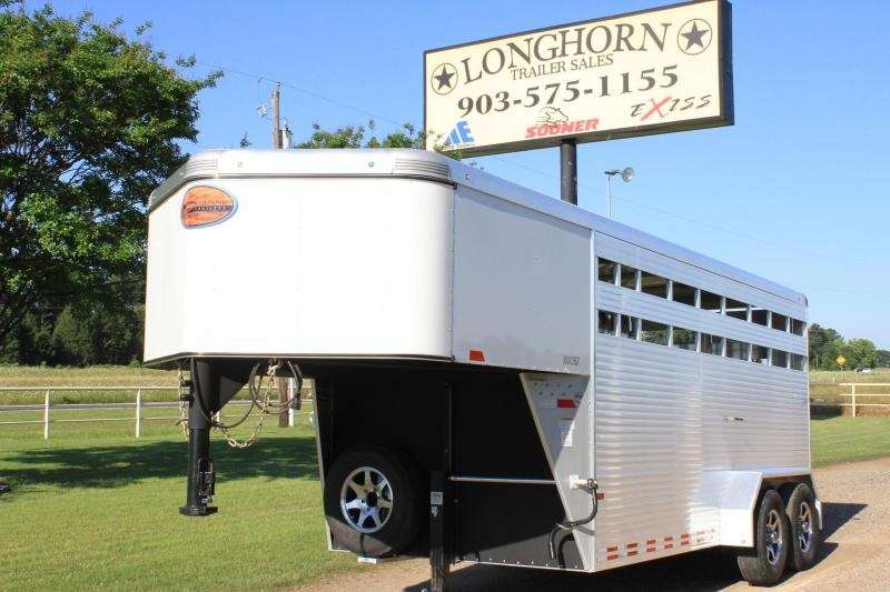2016 Sundowner Trailers 16ft Gooseneck Stock Trailer - All Aluminum Livestock Trailer