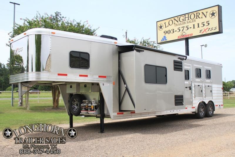 2018 Exiss 3 Horse 12ft Shortwall with Slide Out