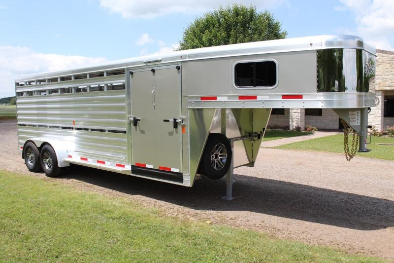 2019 Exiss 21ft Show Cattle Combo with 5ft Tack and Side Ramp