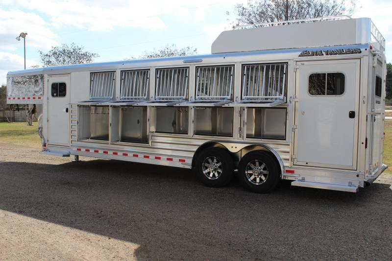 2018 Elite 5 Horse with Double Door Side Tack