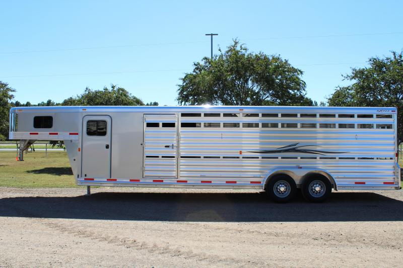 2018 Exiss 28' Show Cattle Combo with Double Side Ramps