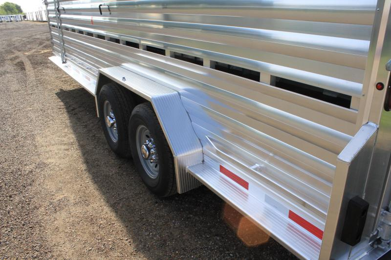 2019 Exiss 24ft Stock Trailer with Side Ramp