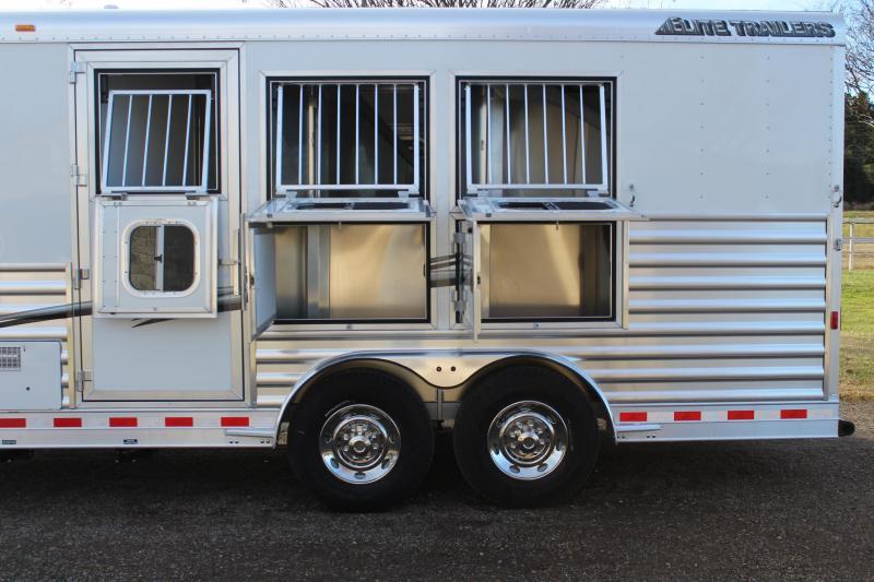 2020 Elite 3 Horse 8.8ft LQ with Mangers/Dinette