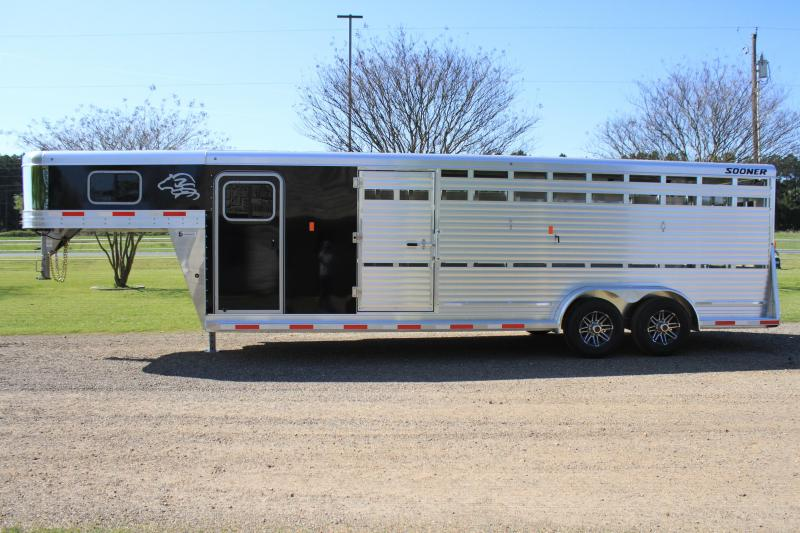 2019 Sooner 24ft Show Cattle Combo with Side Ramp in Tack