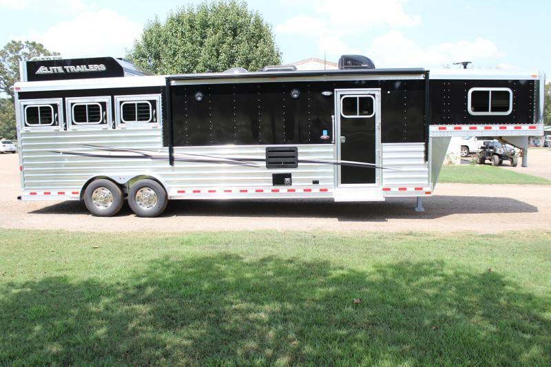 2020 Elite Trailers 3 Horse 12.8ft Shortwall wiith Generator Horse Trailer