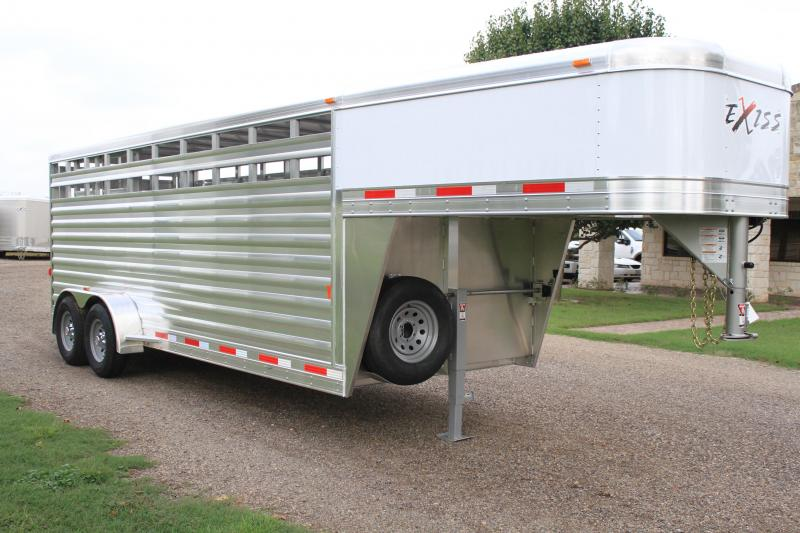2019 Exiss 20' Stock Gn Livestock Trailer