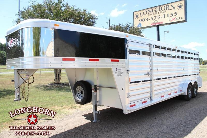 2018 Exiss 24ft Show Cattle Stock Trailer with Side Ramp