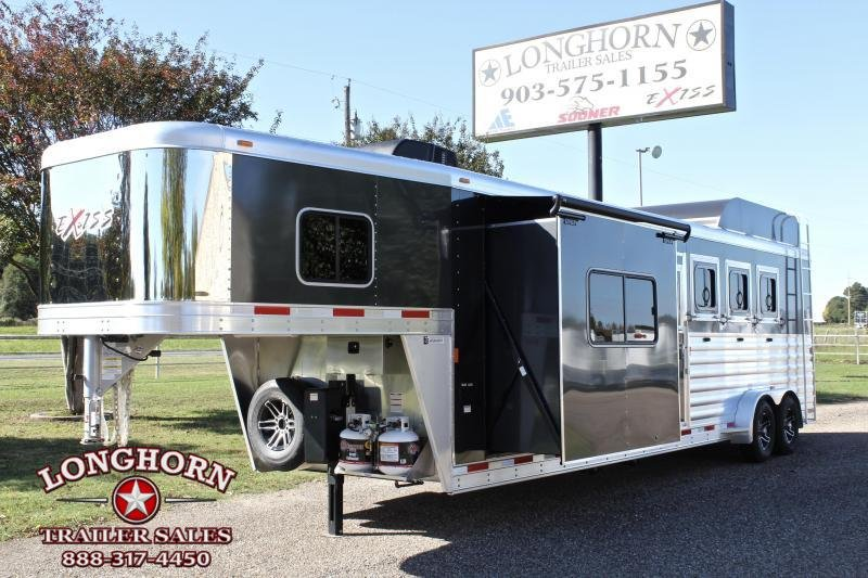 2019 Exiss 4 Horse 10ft LQ w/ Slide Out and Hayrack in Ashburn, VA