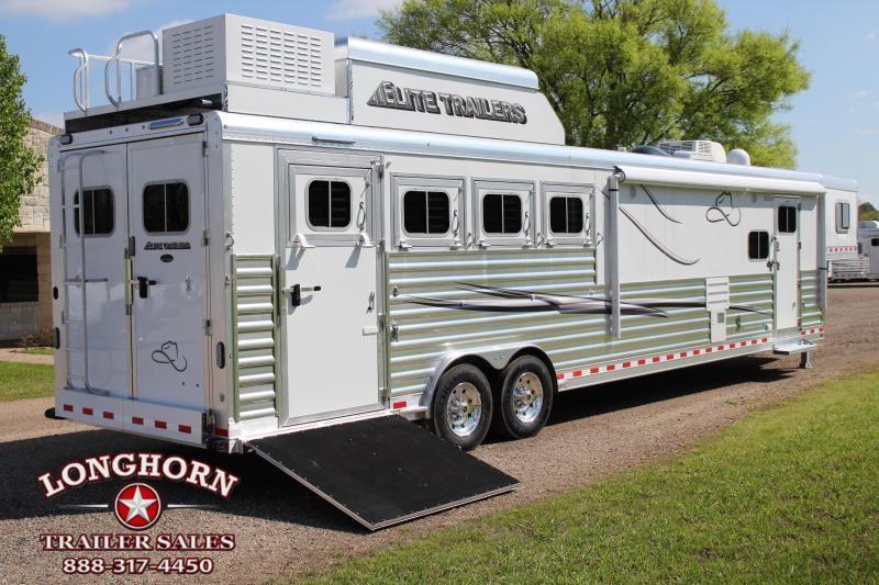 2019 Elite 4 Horse 15ft LQ Side Load Slide Out Resistol