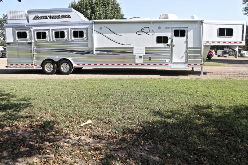 2020 Elite 4 Horse 15ft LQ Side Load Slide Out Resistol