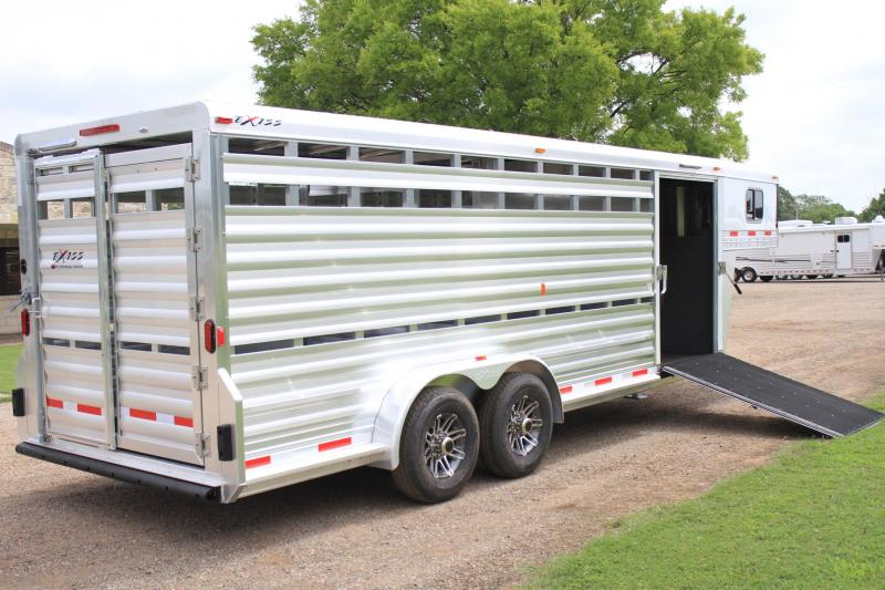 2019 Exiss Trailers 21' stock combo w/ side ramp