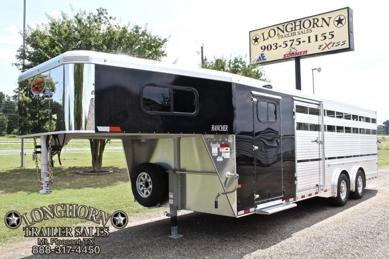 2019 Sundowner 24ft Show Cattle 8ft Wide with Floating Gate Livestock Trailer