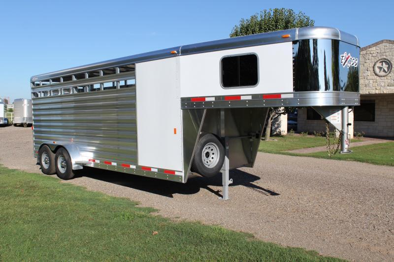2019 Exiss 20ft Stock Combo 7.2ft Tall with Saddle Rack