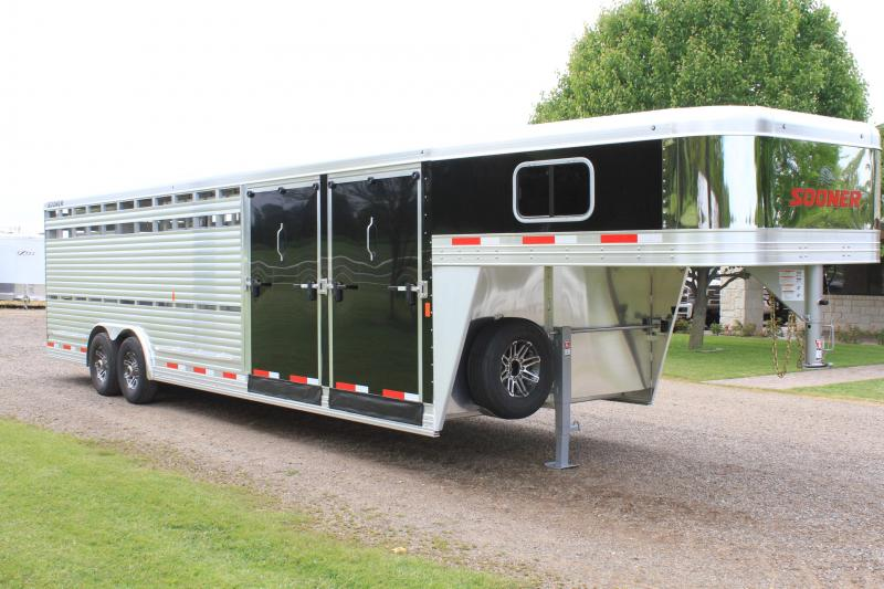 2019 Sooner 28ft Show Cattle Combo with Two Side Ramps