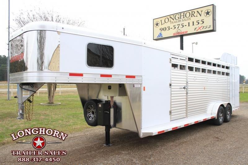 2019 Sooner 5 Horse Side Load Stock Combo