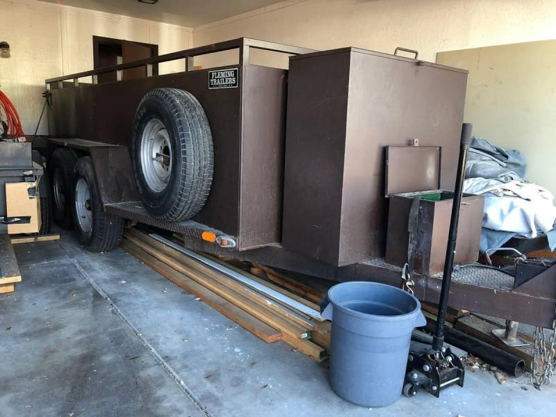 1990 Fleming 5 x 14 Custom Built Utility Trailer