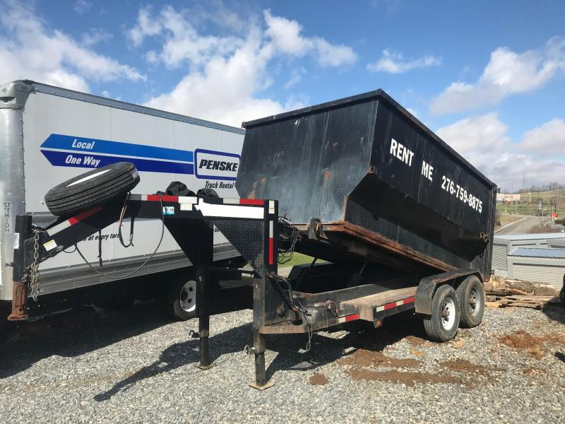 2011 Texas Pride 7 x 12 Roll-Off Dump Trailer w/ Bins in Ashburn, VA