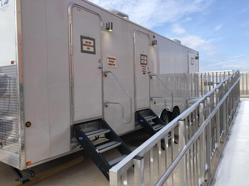 2018 716 Specialty Trailers 8 x 28 Combination Shower Restroom Trailer