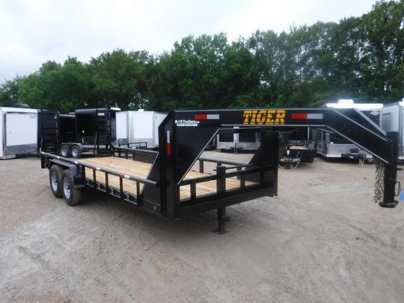 2018 Tiger 83x20 Gooseneck Equipment Trailer