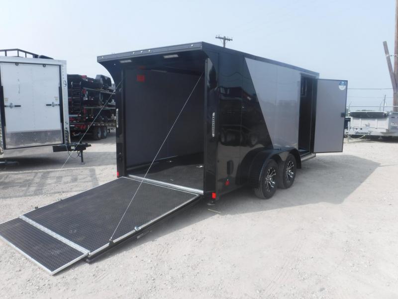 2019 Cargo Mate 7 x 14 Blazer Low Hauler Motorcycle Trailer