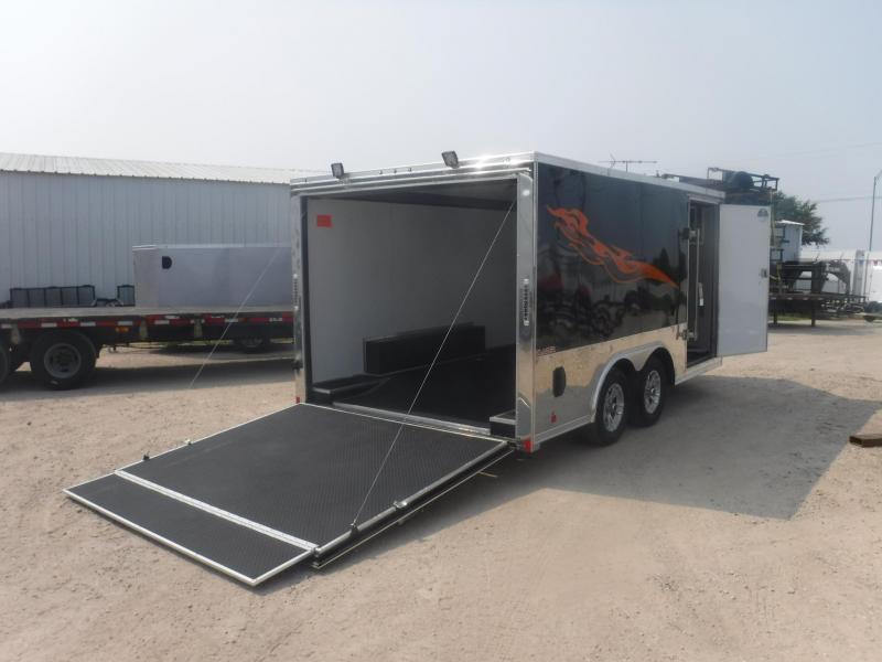 2019 Cargo Mate 8.5 x 14 Blazer Low Hauler Motorcycle Trailer