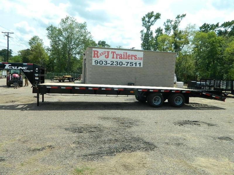 2018 TexLine 102 X 32 Gooseneck Dual Tandem Equipment Trailer