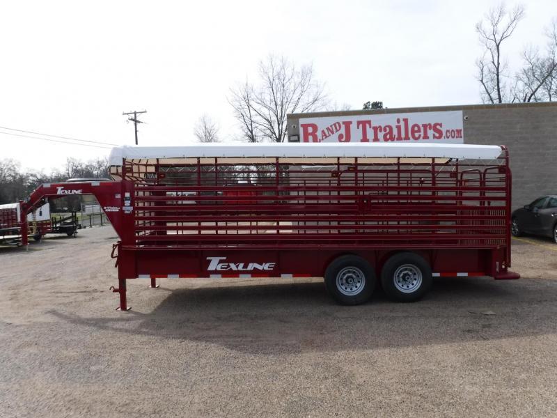 2019 TexLine 80x20 Cattle Utility Trailer