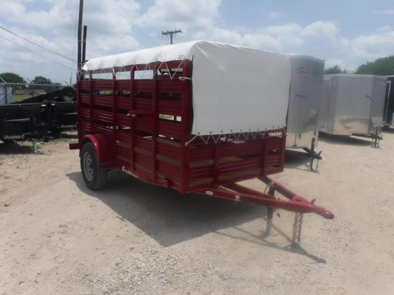 2019 TexLine 5 x 10 Mini Stock Livestock Trailer