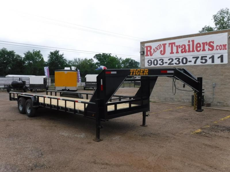 2019 Tiger 83 x 24 Bobcat Gooseneck Equipment Trailer in Willisville, AR