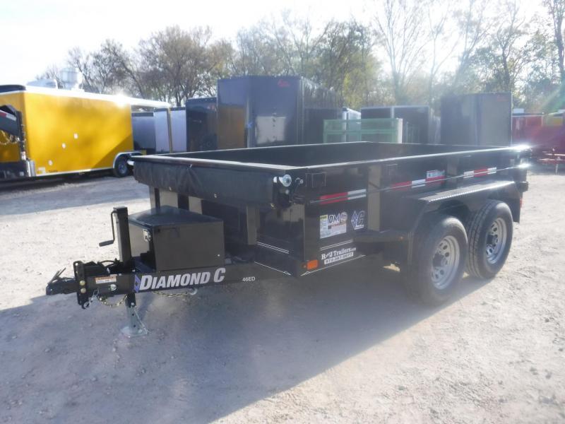 2019 Diamond C Trailers 77 x 10 46ED Dump Trailer