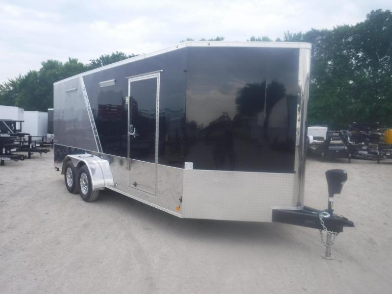 2019 Cargo Mate 7 x 18 Blazer Low Hauler Motorcycle Trailer