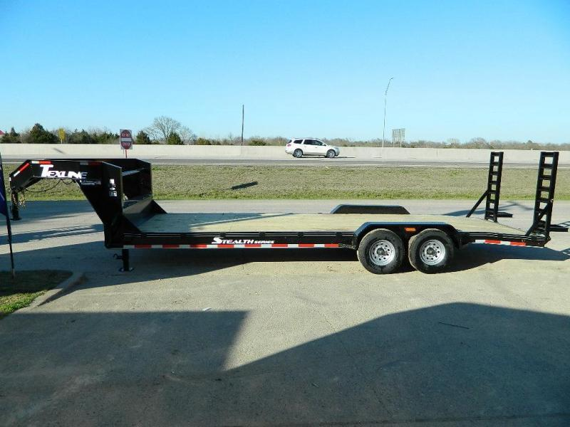 2018 TexLine 83 x 24 Gooseneck Bobcat Equipment Trailer