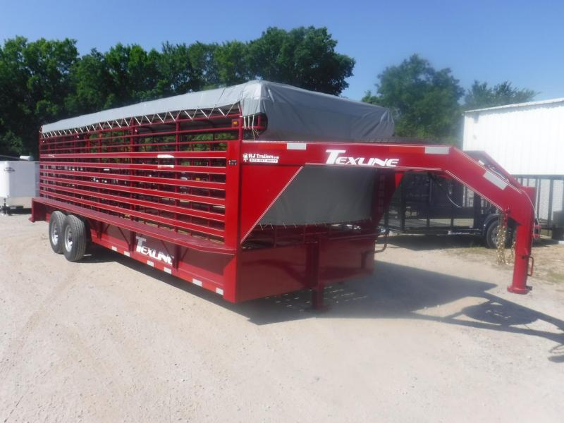 2017 TexLine 24' Cattle Utility Trailer