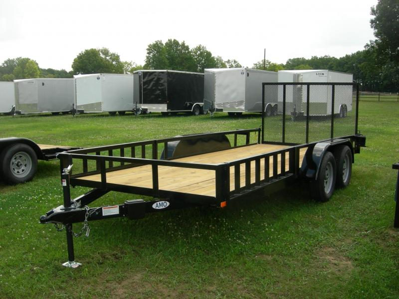 2019 American Manufacturing Operations (AMO) UT76x16Land/ATV Equipment Trailer